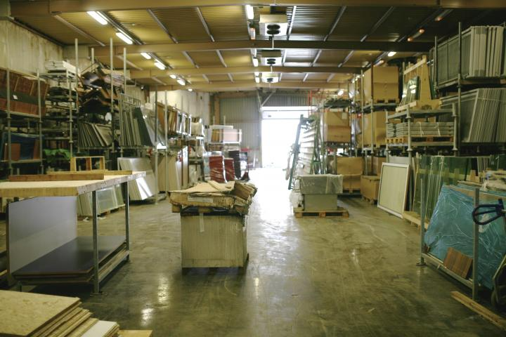 Inside the warehouse. Good storage conditions are essential to preserve the quality of these elements.